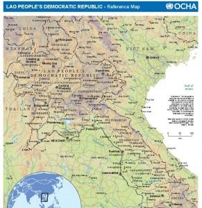 Map World, Lao PDR and Phonsavan