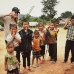 Kate with Hmong Children