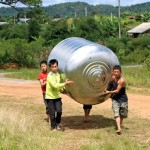 Carrying the 200 l tank for rain water - connected to toilet